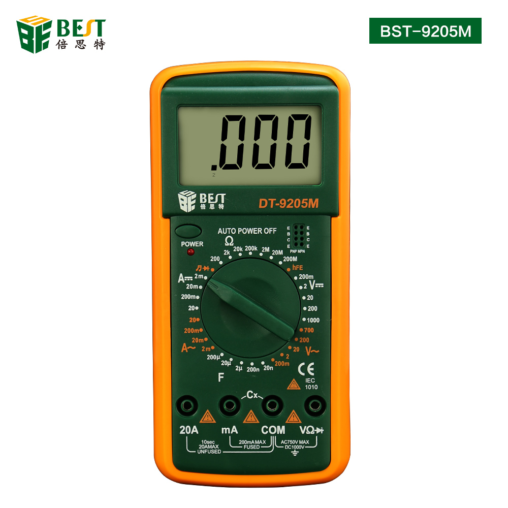 BST-9205M Upgraded version Wholesale Handheld LCD Screen Digital Multimeter With buzzer Tester Meter