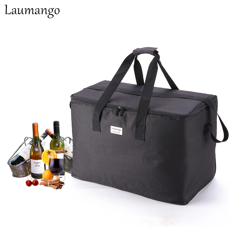 Laumango Extra Large capacity Cooler Bags Thermal Insulated Bento Box Water Food Fruit Storage Portable Cooler