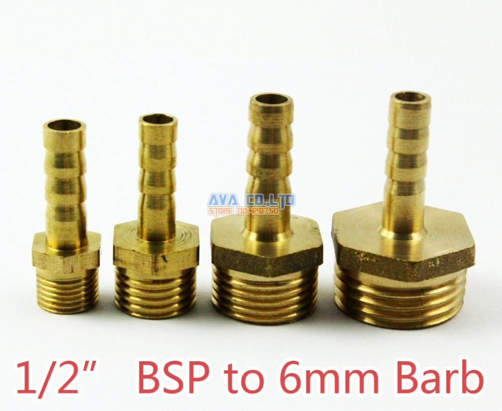 Pieces brass male quot bsp to mm barb hose tail