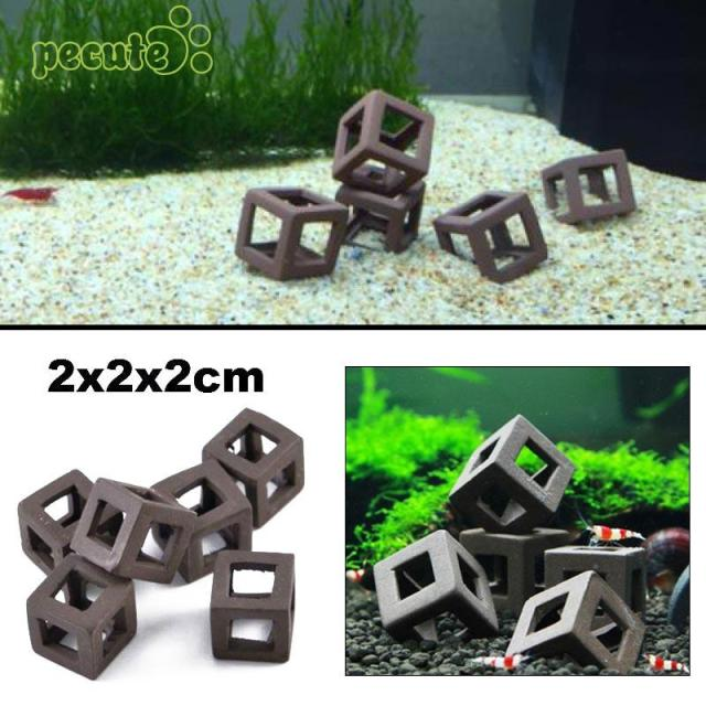 5Pcs Hiding Cave Shrimp Cichlid Stone Aquarium Ornament Fish Cube Frame DIY