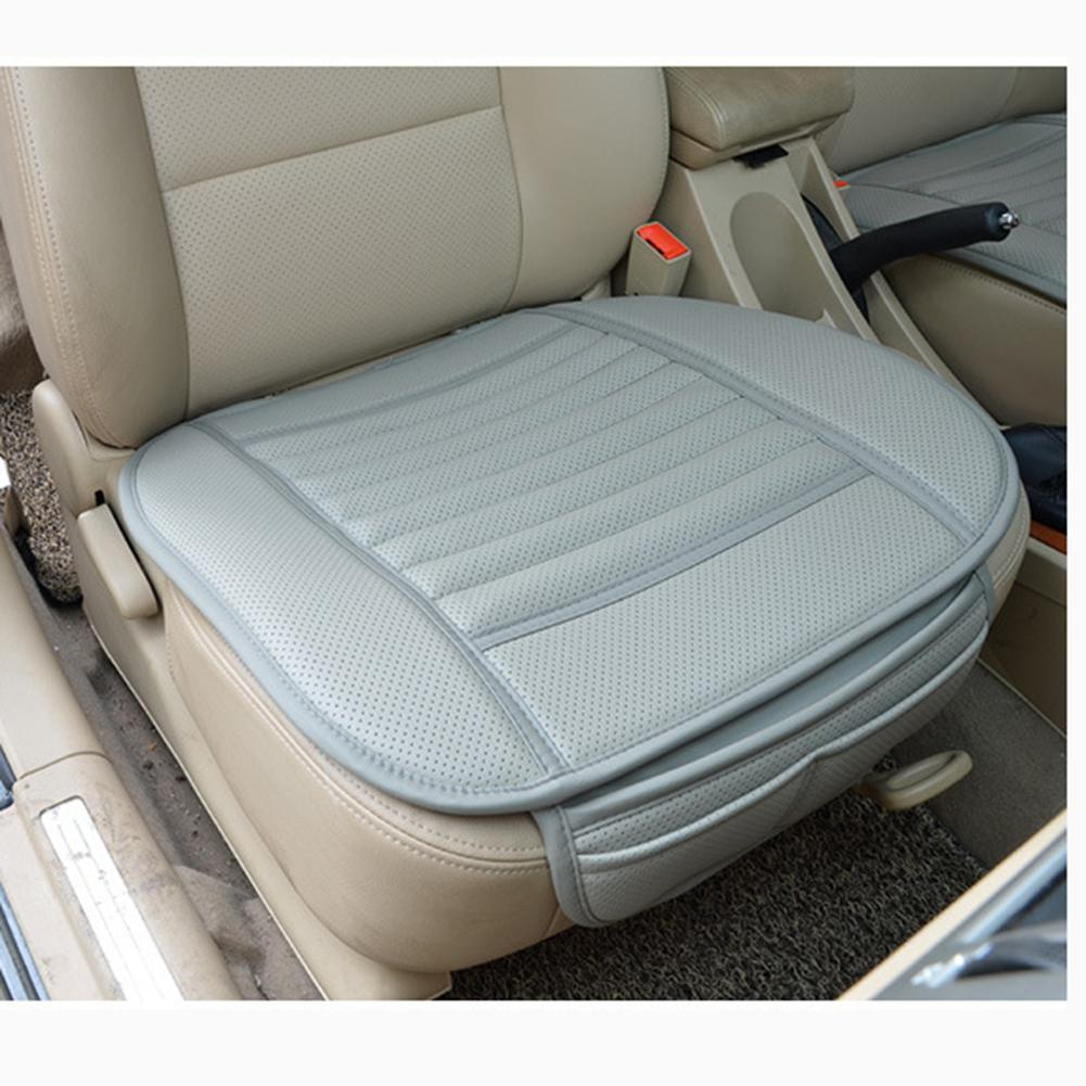 car bamboo charcoal leather seats cushion breathable auto office cover pad in automobiles seat. Black Bedroom Furniture Sets. Home Design Ideas