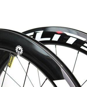 Image 3 - Elite SLR 700c hamulec tarczowy węgla szosowe koło rowerowe żwir Cyclocross koła rowerowe Tubular Clincher bezdętkowe niska oporność Hub