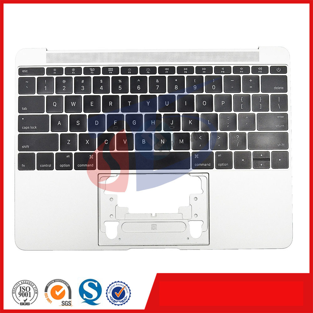 2016year silver Original for Macbook retina 12 A1534 US USA keyboard topcase top cover layout