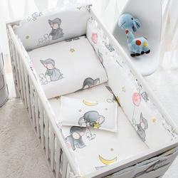 6 Pcs Camera da letto del bambino Set di Cotone Del Fumetto Animato Presepe Letto Paraurti Confort Del Bambino Paraurti Neonati Letto Protezione Del Bambino Letto Set