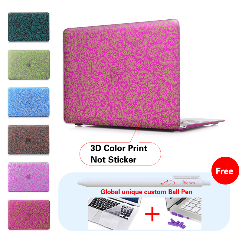 New Fashion For Girls worm petals pattern Case Cover for Macbook Air 13 12 11 Pro