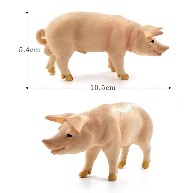 Farm Simulação de Ação figuras de brinquedo modelo Animal Selvagem Javali Porco Artesanato Decoração de plástico educacional Melhor Presente de Natal Para As Crianças