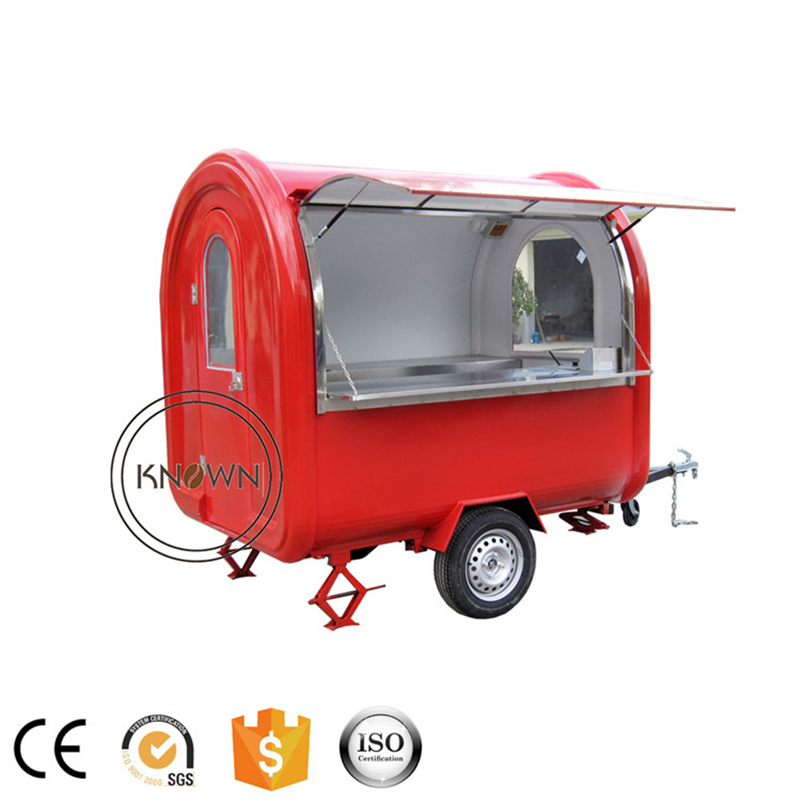 Low price high quality 220cm long food trailer van hotdog customized mobile food cart for sale|Food Processors| |  - title=