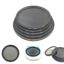 CPL dairesel polarize kamera filtre Canon Nikon DSLR kamera lens için 52mm/55/58/62/67/72/77/82mm