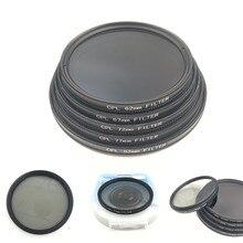 Filtre de caméra polariseur circulaire CPL pour objectif de caméra reflex numérique Canon Nikon 52mm/55/58/62/67/72/77/82mm