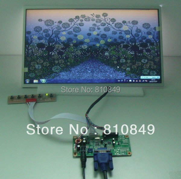 VGA contoller board 14inch WXGA lcd display 1366 768 led backlight for laptop LTN140AT04 LTN140AT01 LTN140AT16