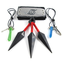 Cosplay Naruto Akatsuki Hidan Ninja Headband+Necklace+Ring 3Pcs/Set