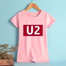 4e4e87722b23 NEUE U2 T-shirts Frauen Baumwolle Dublin Irland Rock Band Hohe qualität  Freizeit Tees Und Tops Lustige Sommer T-shirt Frauen Ros.