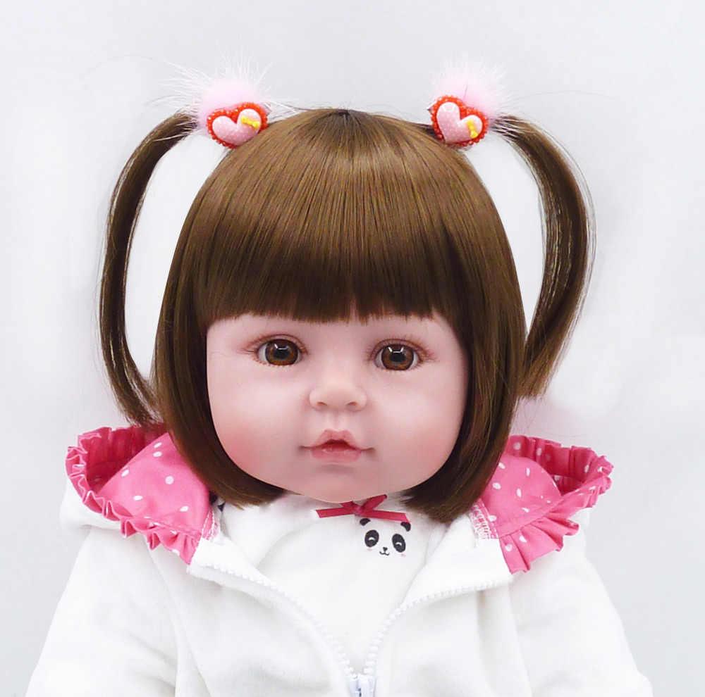 Bebe Reborn pop 19''soft siliconen schattige baby doll Boneca jongen vrouwelijke pop Brinquedos Mooie werkelijkheid bebe Verrassing pop