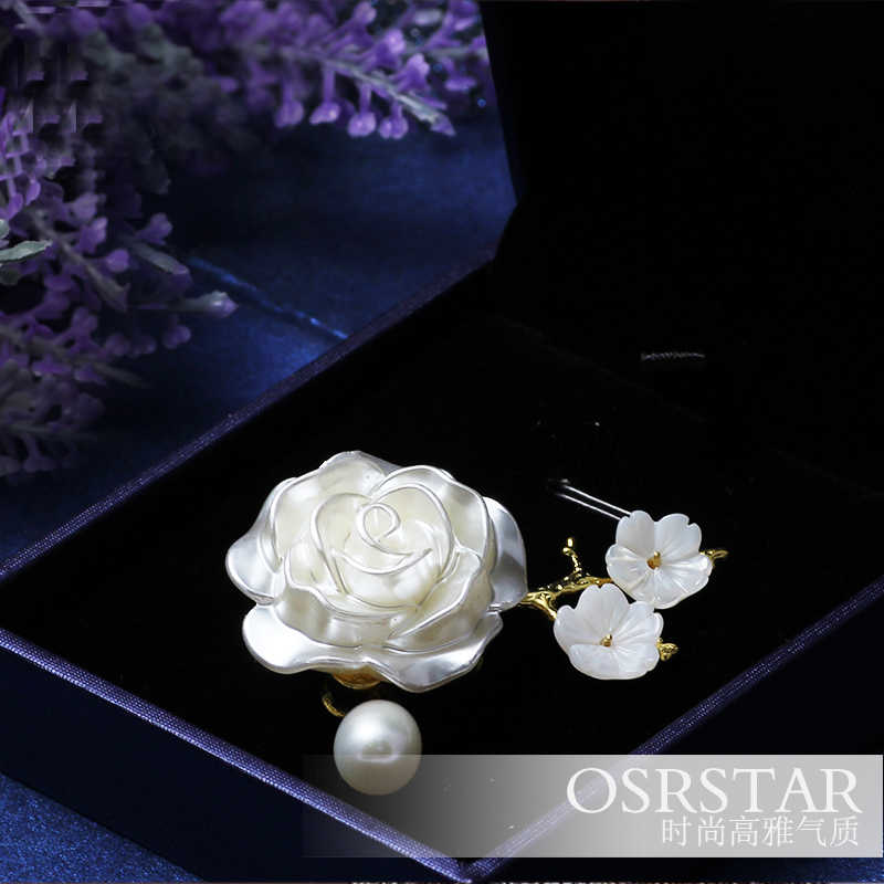 e735546c72b48 Ivanka Trump Classical Royalty Camellia Flower Brooch Concise Pearl Brooch  Women Pins And Brooches Jewellery Dress Gift Rose Pin