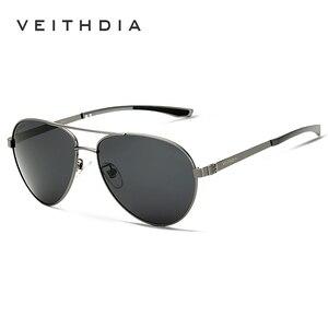Image 3 - VEITHDIA Fashion Brand Designer Aluminum Magnesium Mens Sun Glasses Polarized Mirror lens Male Eyewear Sunglasses For Men 3801