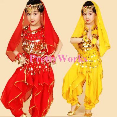 6PCS Kids Belly Dance Costume Child Indian Dancing Girlu0027s Performance Clothing Children Stage Tutu clothes J  sc 1 st  AliExpress.com & 6PCS Kids Belly Dance Costume Child Indian Dancing Girlu0027s ...