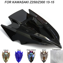 ABS Windscreen For Kawasaki ER300 Z300 Z250 2013 2014 2015 2016 Motorcycle Windshield Iridium Wind Deflectors