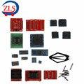 Conjunto completo 21 unids Adaptadores de Enchufe para el Super Mini Pro TL866A TL866cs Programador EEPROM Socket Adaptadores Para TL866A Envío Gratis