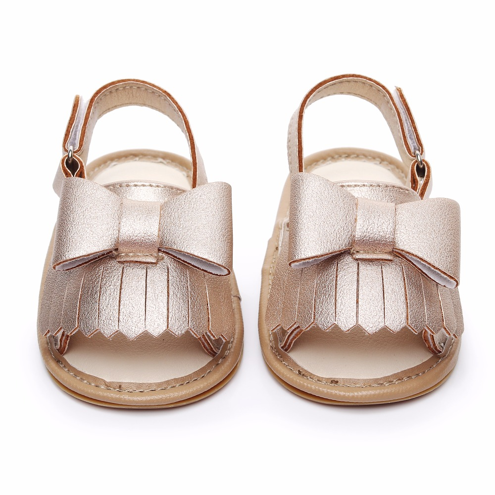 1f6b4bd59 2019 Summer Newborn Casual Crib Shoes Baby Girl Shoes hard sole cute Bow infant  Sandals Toddler Baby Princess shoes
