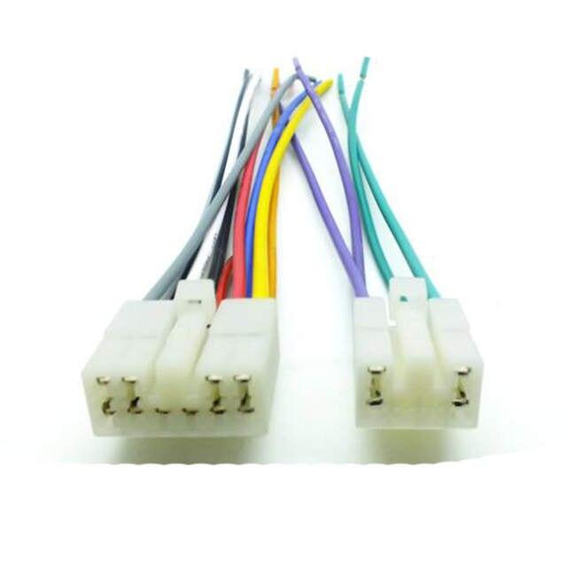 online shop car audio stereo wiring harness adapter plug for toyota corolla  rav4 prius highlander yaris previa radio cd dvd stereo harness | aliexpress