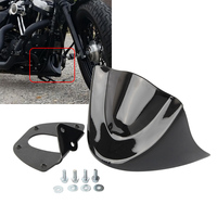 Motocross Motorcycle Motorbike Mudguard Gloss Black Lower Front Chin Spoiler Air Dam Fairing Cover For Harley
