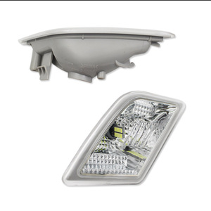 Image 3 - Gtinthebox luces laterales para Mercedes Benz W204, C250, C300, C350, C63, AMG, con LED blanco, transparente, para 2008 2011