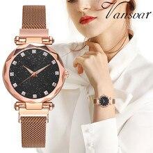 Watch Women Luxury Rose Gold Ladies Wrist Watches Starry Sky Magnetic Watch Waterproof Clock Female reloj mujer zegarek damski цена и фото