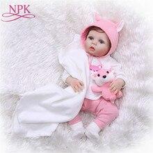 56 cm Đầy Đủ cơ thể Silicone bebe búp bê Bé Tái Sinh Đồ Chơi Sống Động Như Thật Cảm Ứng Mềm Mại trẻ Sơ Sinh Búp Bê Tái Sinh Sinh Nhật Cô Gái Món Quà brinquedos