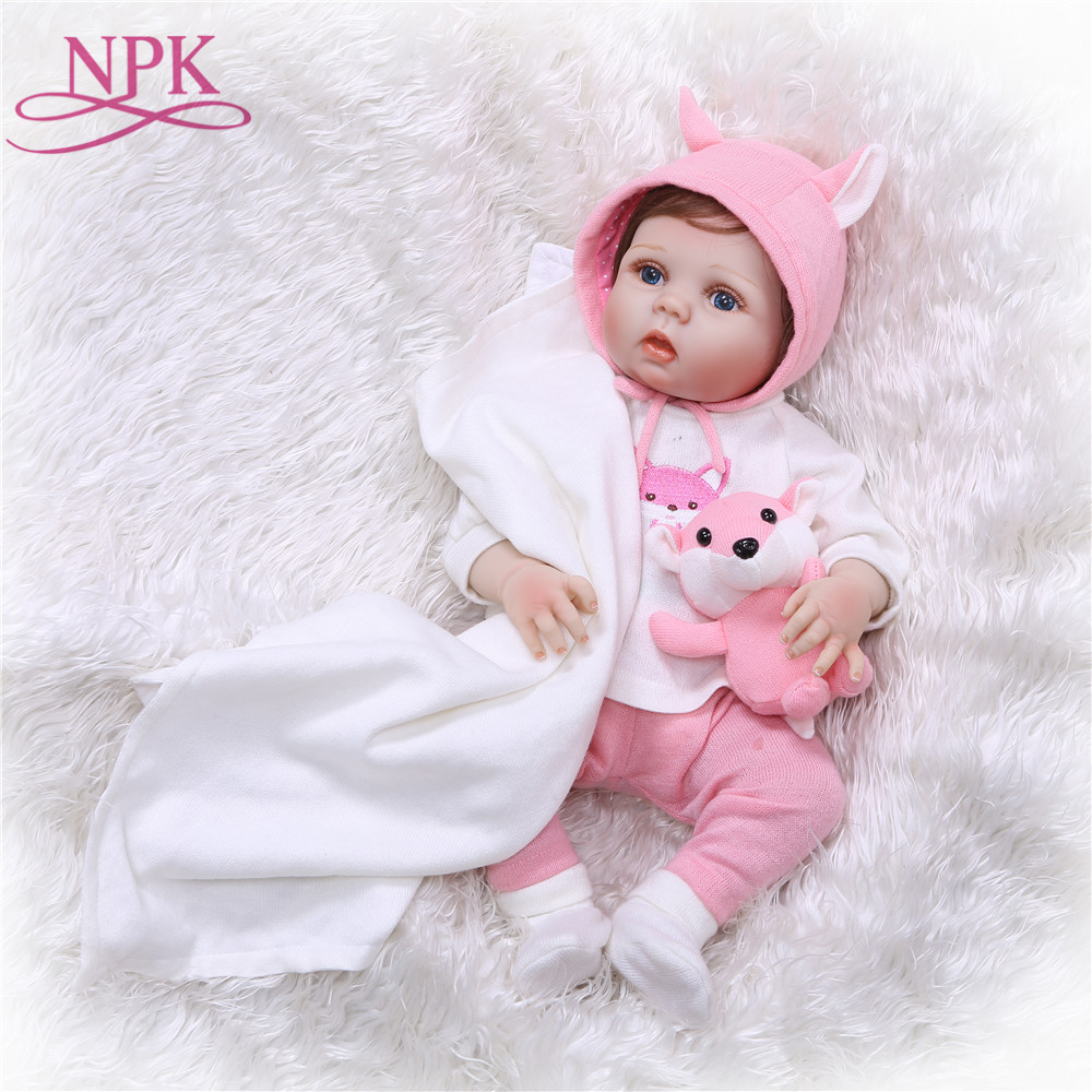NPK 55cm Full Silicone Vinyl Reborn Baby Doll Toys Lifelike Soft Touch Newborn babies Doll Reborn Birthday Gift Girls Brinquedos 55cm doll reborn babies full soft silicon lifelike newborn baby dolls baby reborn simulation toys gift for children partner