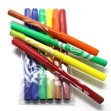Получить скидку Интересный мягкий голова акварель ручка 6 цветов детская детский сад живопись набор ручная роспись нетоксичные начинающих WH18