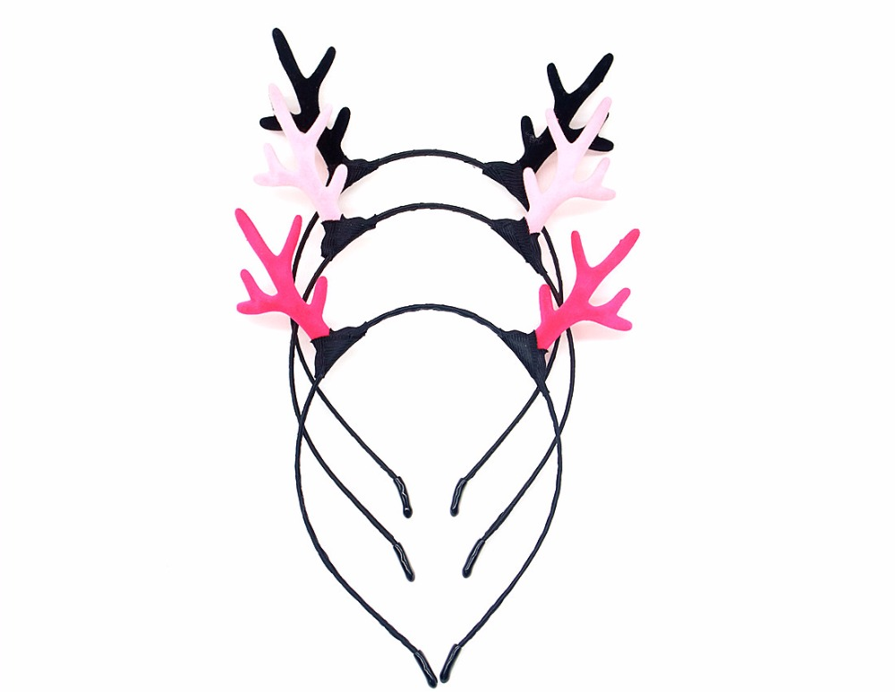 Christmas Headwear 3 Style Reindeer Deer Antler Headband Women  Hair Hoop Children Costume Party Decoration