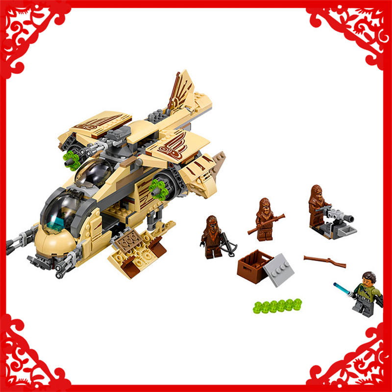 BELA 10377 Star Wars 7 Wookiee Gunship War Building Block 569Pcs DIY Educational  Toys For Children Compatible Legoe bela 10374 star wars 7 battle droid troop carrier 565pcs building block educational toys for children compatible legoe