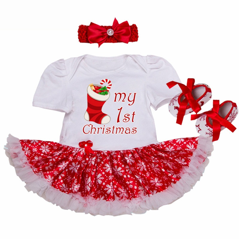 Happy Christmas Gift Baby Girl Romper Dress Newborn Baby Outfit Toddler Lace Tutu Headband Set Vestido Bebe Menina Infant Cloth slim case for ipad mini 4 aluminum wireless bluetooth keyboard 7 colors backlit protective smart cover for ipad mini4 flip stand