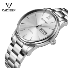 CADISEN Watch Men NH36A Mechanical movement Set Automatic Self-wind Stainless Steel 5ATM Waterproof Business WristWatch