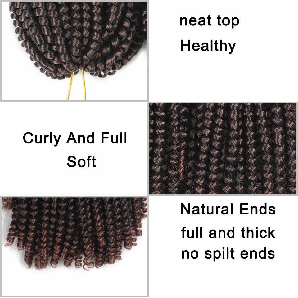 Xtrend Весна Твист наращивание волос мех крючком коса Tresse косы с крючком кудрявый страсть твист вьющиеся синтетические 1 до 10 шт