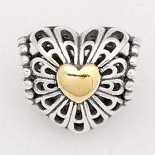 08be3a815 New 925 Sterling Silver Bead Charm Vintage Openwork Daisy Flower Filigree  Heart Beads Fit Pandora Bracelet Bangle DIY Jewelry