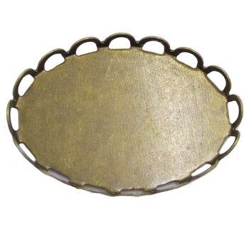 Wholesale Lot 500piece Antique Bronze Lace Oval Pendant Trays Pendant Blanks 13x18mm 18x25mm Bezel Cabochon Settings PT45 фото