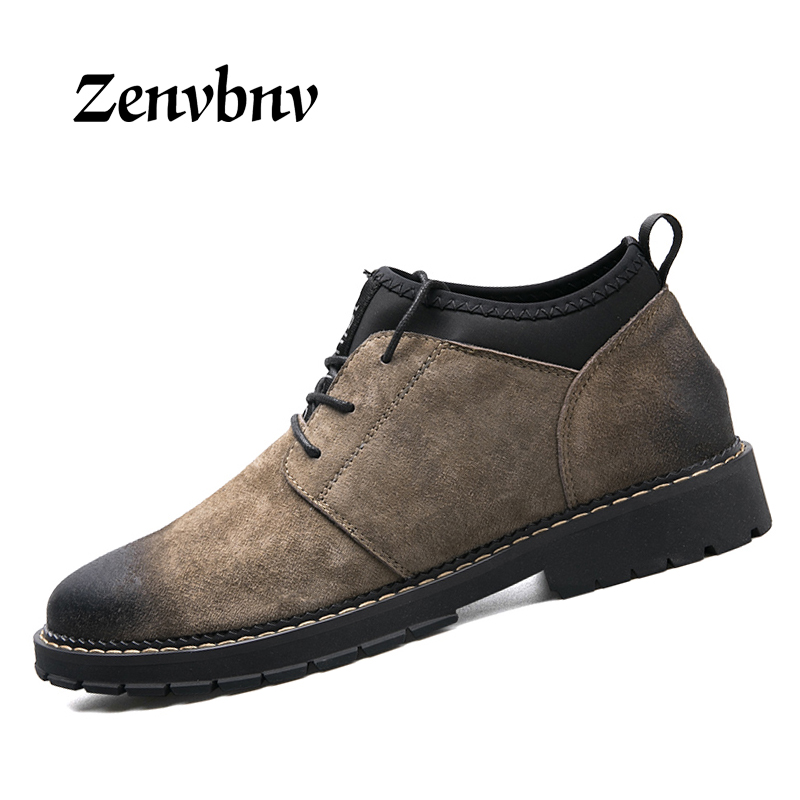 ZENVBNV New Lace Up Men Casual Shoes British Walking Comfort Oxford Shoes For Men Height Taller 3 Cm Moccasins Work Shoes Men кастрюля taller tr 1083