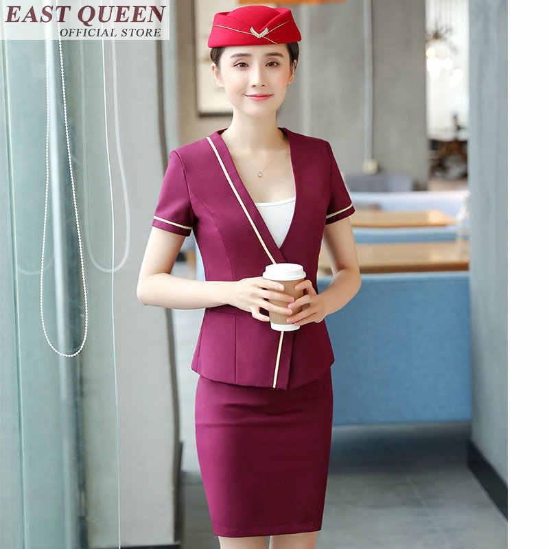 Униформа стюардессы для полёта элегантные женские деловые офисные платья для особых случаев FF435