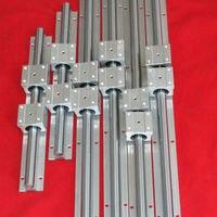 Support Linear Rail SBR12 300MM X 2 SBR16 500MM X 2 SBR20 800MM X 2 total 6 rails+12blocks for CNC machine