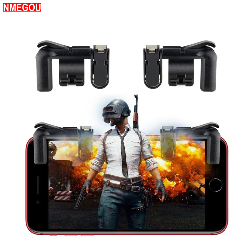 Phone Game PUBG Mobile Button Trigger Controller for IPhone Xiaomi L1r1 Gaming Free Fire Rules of Survial Tetik Gatillos image