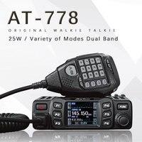 AT 778UV двухполосная приёмопередающая установка мобильный радио/UHF двухстороннее радио 200 канала 30 Вт Мощность автомобиля радио