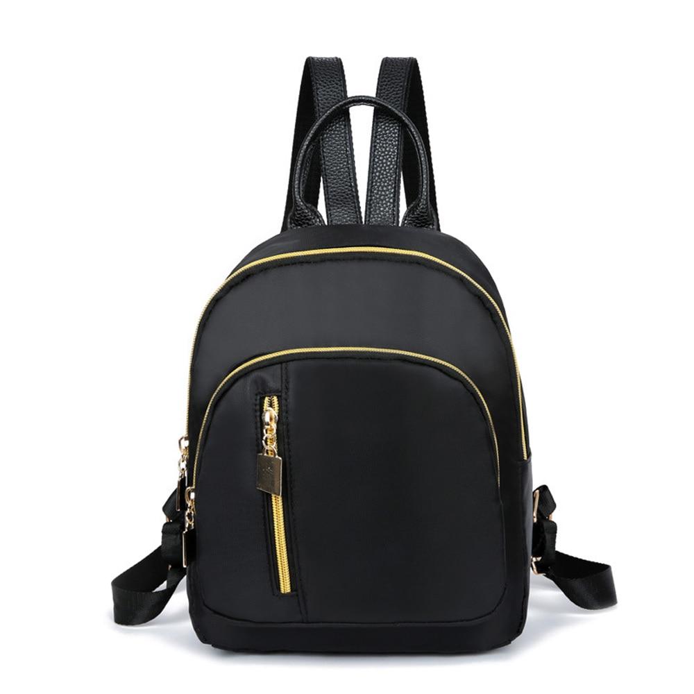 Fashion Double Backpacks Female Bagpack Pack Design Casual Backpack school bag 2019 New Women Backpack Pure backpacks for teens Backpacks     - title=