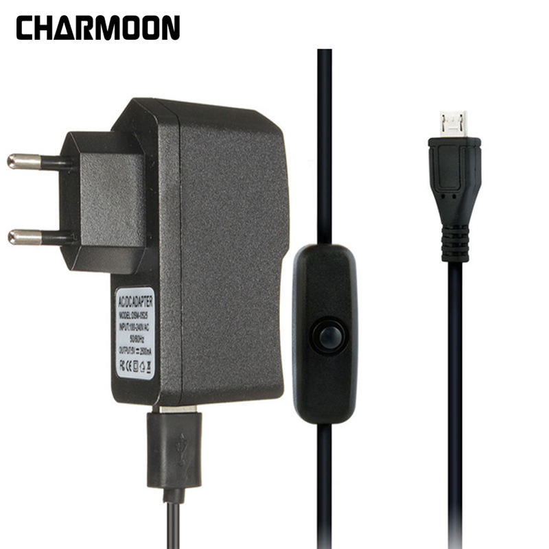 For Raspberry Pi 3 AC Power Supply 5V 2.5A USB Charger Adapter/ ON Off Switch Micro USB Cable For Raspberry Pi 3 Model B B+ Plus