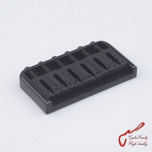 1 Set GuitarFamily Super Quantity  Electric Guitar Fixed Bridge Stainless Saddle / Steel Plate  Black   MADE IN KOREA