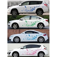 Waterproof Auto Modifield Decal Vinyl Natural Stickers Flower For Car Whole Body