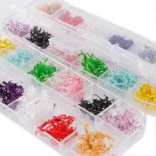 12 cores/caixa seca coral flor tingimento plantas para resina epóxi pingente colar jóias fazendo artesanato diy acessórios