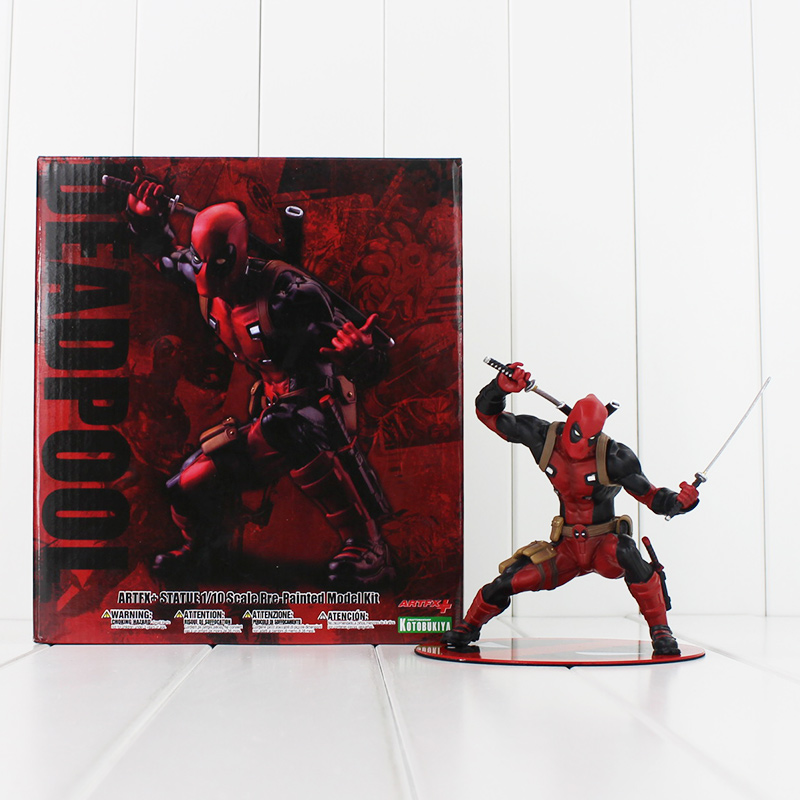 Deadpool Figure Wade Wilson ARTFX X-MEN Deadpool with Weapon CIVIL WAR PVC Action Figure Model Collection Kids Toys cute 6cm deadpool reading figure model toy wade winston wilson deadpool pvc figure collection gift