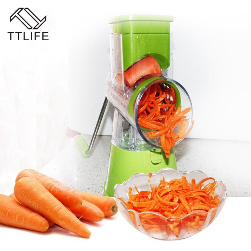 TTLIFE Hot sale Spiral Manual Mandoline Slicer Vegetable Cutter Fruit Machine Peeled Tool Vegetable Salad Tools