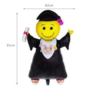 Image 3 - 5pcs Graduation Balloons Graduation Gift Cartoon Globos Back To School Decorations Congratulation Graduation 2019 Doctor Balloon